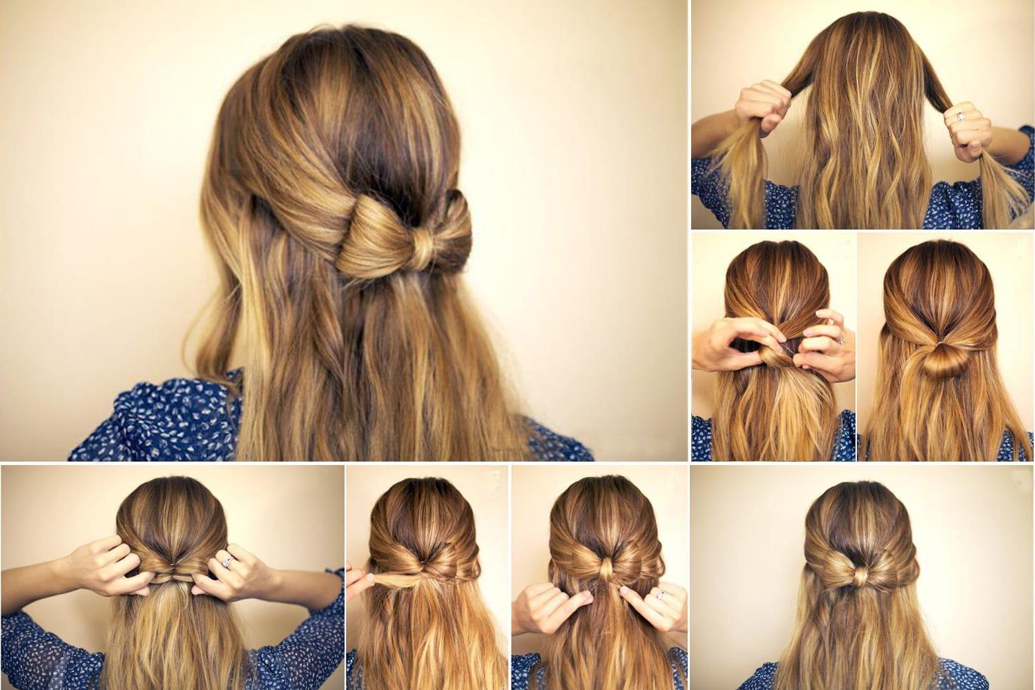 Красивые лёгкие причёски на средние волосы быстро