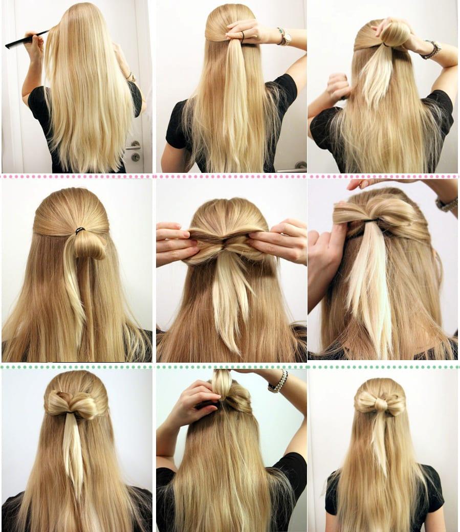 Фото как сделать причёску в школу