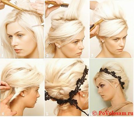 Прическа бабетта пошаговая инструкция, ракушка, водопад, валик, волос, подиумные